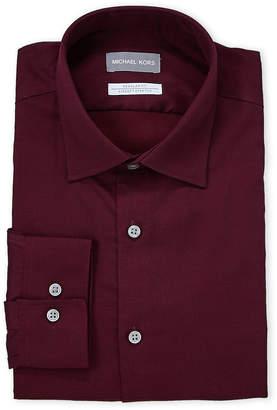 Michael Kors Burgundy Regular Fit Dress Shirt