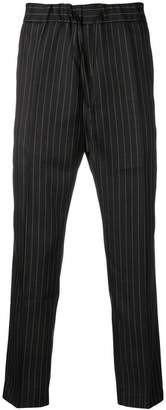 Cmmn Swdn drawstring striped trousers