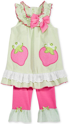 Nannette 2-Pc. Strawberries Tunic & Capri Leggings Set, Baby Girls (0-24 months) $34 thestylecure.com