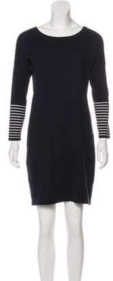 Neiman Marcus Long Sleeve Mini Dress Navy Long Sleeve Mini Dress