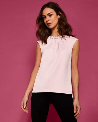 Ted Baker CAMBLE Pearl embellished top