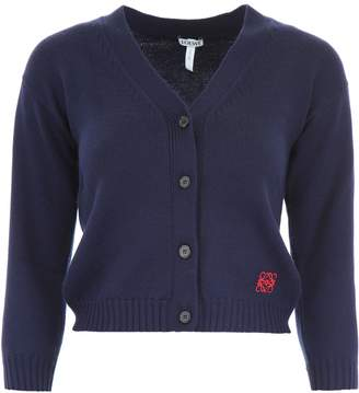 Loewe Cardigan With Embroidered Logo