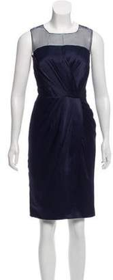 Andrew Gn Sleeveless Knee-Length Dress Navy Sleeveless Knee-Length Dress