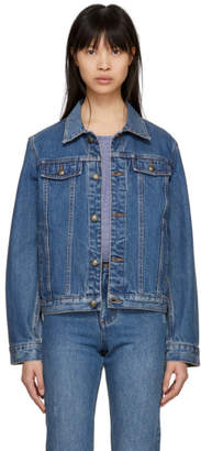 A.P.C. Indigo Cherry Denim Jacket