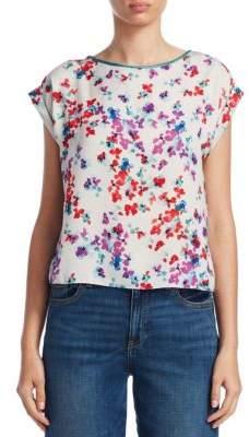 Emporio Armani Floral Cap Sleeve Blouse