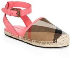 Burberry Girl's Perth Signature Plaid Espadrilles