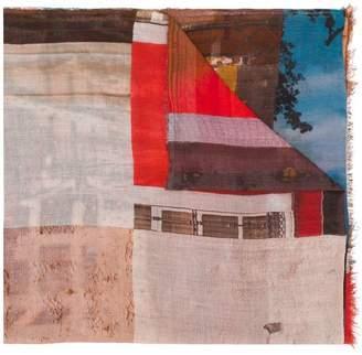 Faliero Sarti printed knitted scarf