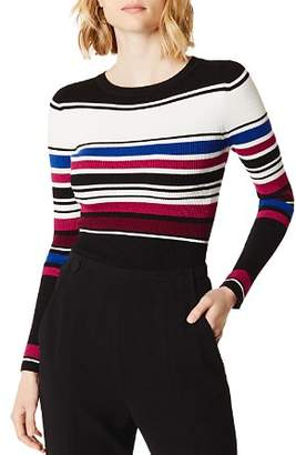 Karen Millen Metallic Striped Rib-Knit Top - 100% Exclusive
