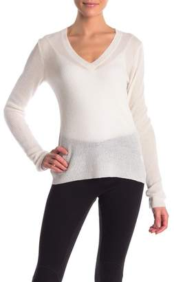 James Perse Ribbed Deep V-neck Sweater