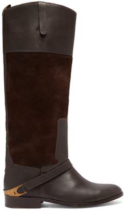 Golden Goose Charlye leather and suede knee-high boots