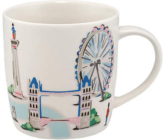 Cath Kidston Audrey London Map Mug, 350ml, White/Multi