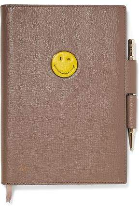 Reversible Embossed Textured-Leather A5 Notebook Set