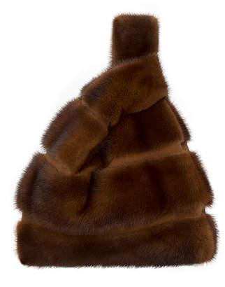 Simonetta Ravizza Furrissima FD Mink Fur Striped Tote Bag