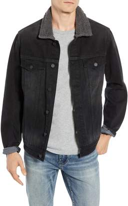 Blank NYC BLANKNYC Fleece Collar Denim Trucker Jacket