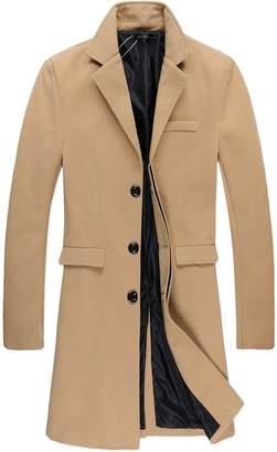 Benibos Mens Trench Coat Autumn Winter Long Jacket Overcoat (S, 01 )