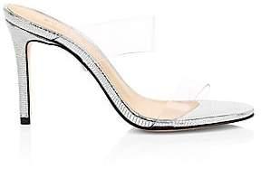 76c399a2fd Schutz Women's Ariella Translucent Strap Mule Sandals