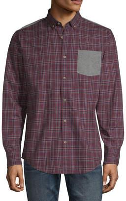 Arizona Long Sleeve Plaid Button-Front Shirt