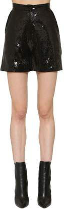 Elie Saab Sequined High Waist Shorts