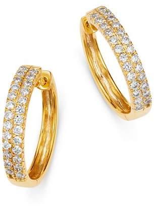 Bloomingdale's Diamond Double-Row Hoop Earrings in 14K Yellow Gold, 1.0 ct. t.w. - 100% Exclusive