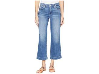 Paige Nellie Culotte w/ Contrast Stitch in Indigo/Pink Stitch Women's Jeans