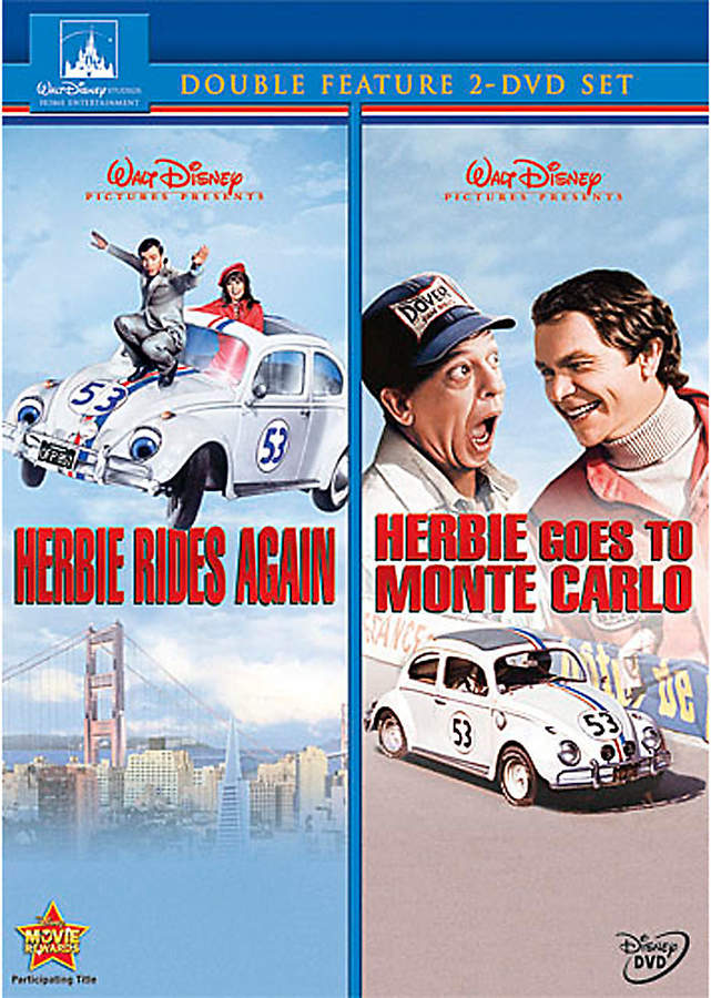 Disney Herbie Rides Again and Herbie Goes to Monte Carlo DVD - 2 Movie Collection