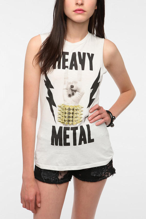 Corner Shop Heavy Metal Muscle Tee