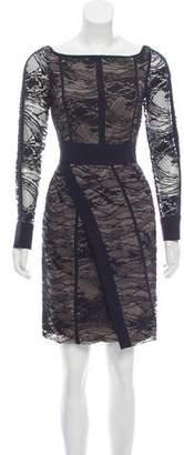 J. Mendel Lace-Accented Mini Dress w/ Tags