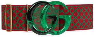 Gucci Elastic belt with Double G