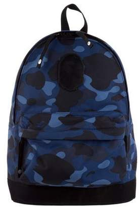 A Bathing Ape Camouflage Canvas Backpack