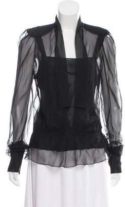 Christian Dior Silk Long Sleeve Blouse w/ Tags