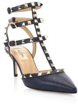 Valentino Rockstud Patent Leather Sling Sandals