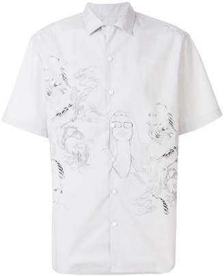 Lanvin sketch print shirt