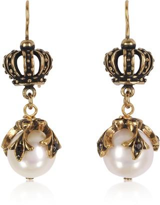 Alcozer & J Crown Earrings w/Pearls