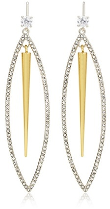 Juicy Couture Open Pave Oval & Spike Earring
