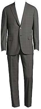 Brioni Men's Regular-Fit Plaid Wool Suit