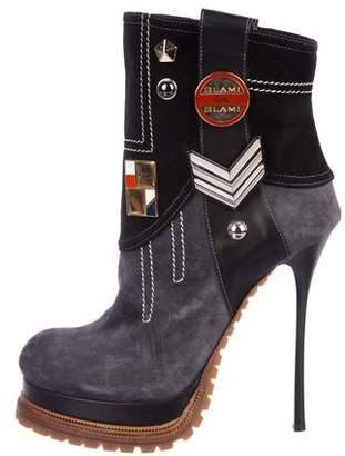 Gianmarco Lorenzi Suede Embellished Boots
