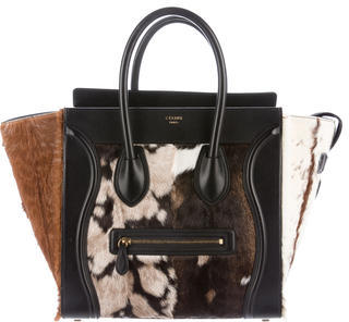 CelineCéline Goat Fur Luggage Tote