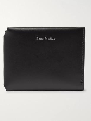 Acne Studios Logo-Print Leather Trifold Wallet - Men - Black