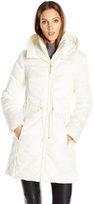 Ellen Tracy Outerwear Women's Satin Down Anorak