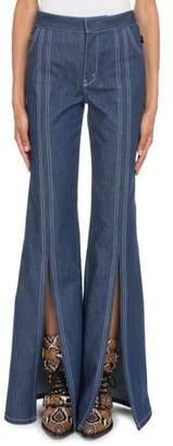 Chloé High-Waist Slit Flare-Leg Jeans