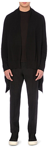 Rick Owens Draped knitted cotton cardigan - for Men