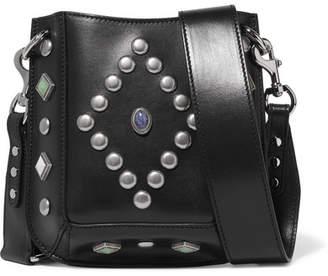 Isabel Marant Nasko Studded Leather Shoulder Bag - Black