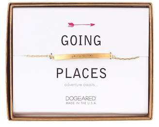 Dogeared 14K Gold Plated Sterling Silver Going Places ID Bar Bracelet