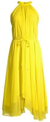 Saloni Iris A-Line Halter Hankerchief Dress