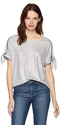 Calvin Klein Women's Short TEE with TIE Sleeves