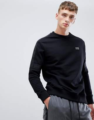 Class Roberto Cavalli sweatshirt in black with logo taping