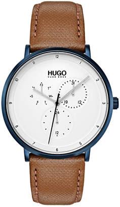 HUGO BOSS HUGO Men's #Guide Ultra Slim Light Brown Leather Strap Watch 40mm