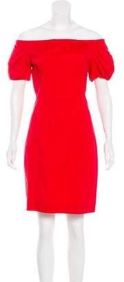 Prada Off-the-Shoulder Short Sleeve Dress