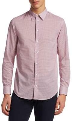 Emporio Armani Printed Cotton Button-Down Shirt