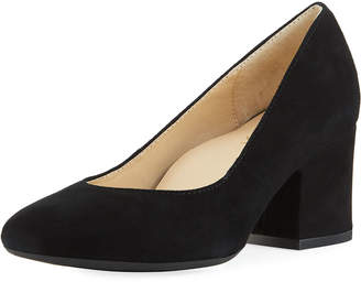 Bettye Muller Concept Genny Chunky Suede Pumps